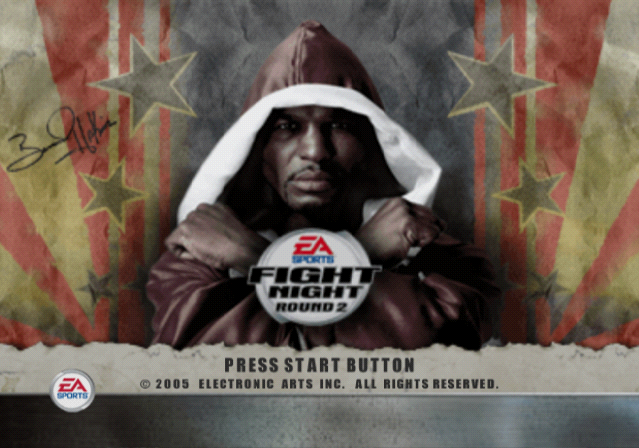 Fight Night Round 2 PlayStation 2 Title screen.