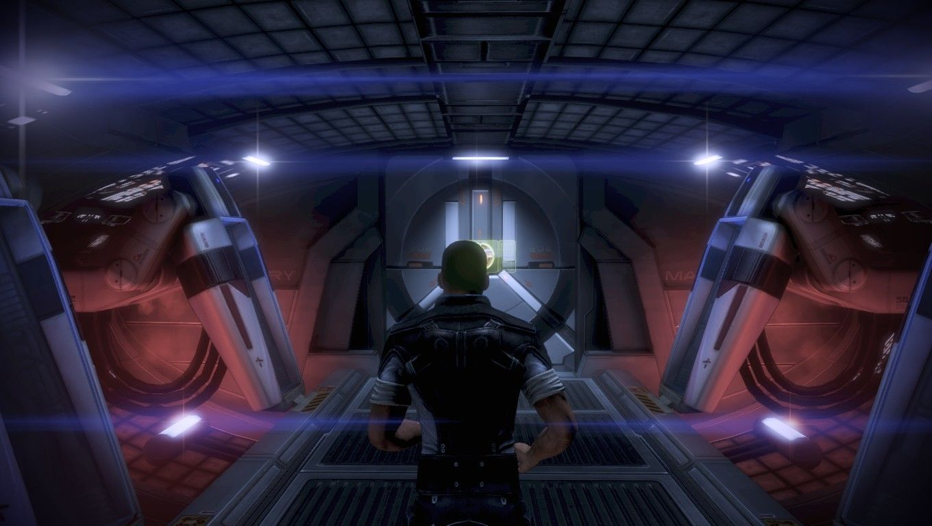 Mass Effect 3 Windows Shepard, back on the Normandy.