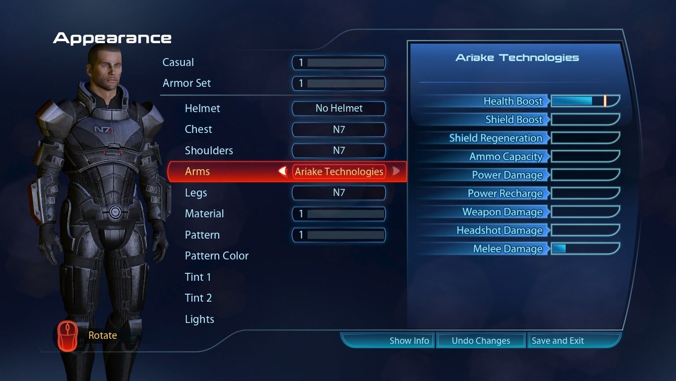 Mass Effect 3 Windows Armour and appearance customization