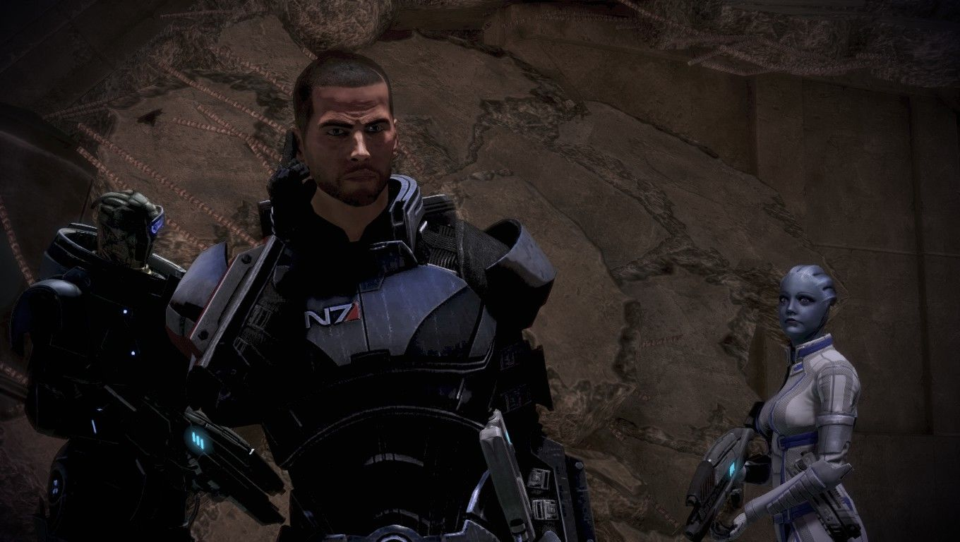 Mass Effect 3 Windows Shepard is actually showing some range of emotion. Something serious is about to go down.