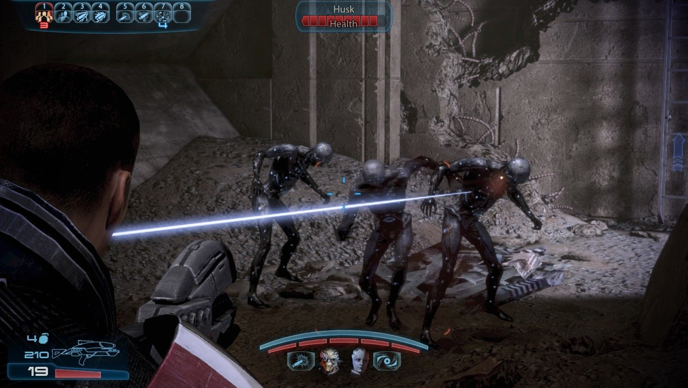 Mass Effect 3 Windows Fighting Husks with the AR.