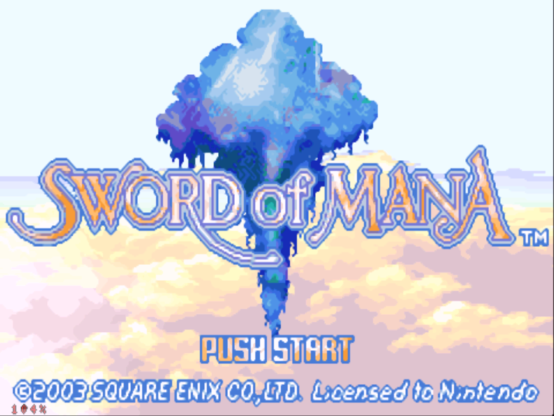 Sword of Mana Game Boy Advance Welcome to Sword of Mana
