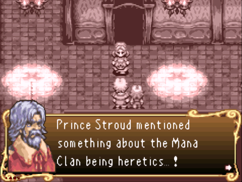 Sword of Mana Game Boy Advance More introduction... the Mana Clan are heretics?!