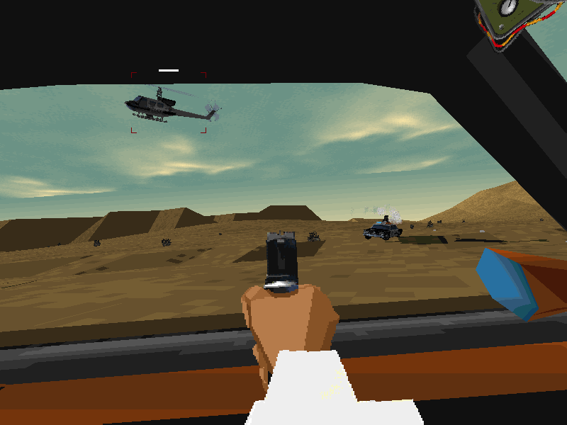 Interstate '76 Windows The cops even bring in a chopper to stop you. Use missiles to take it out