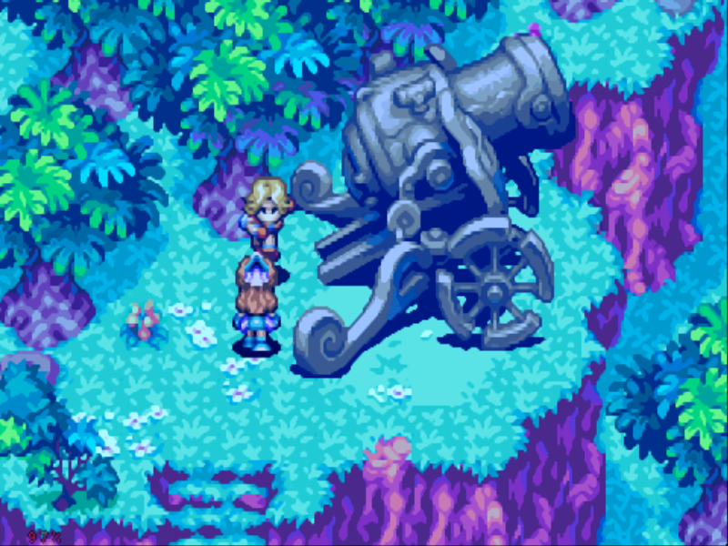 Sword of Mana Game Boy Advance Now THAT is a cannon!