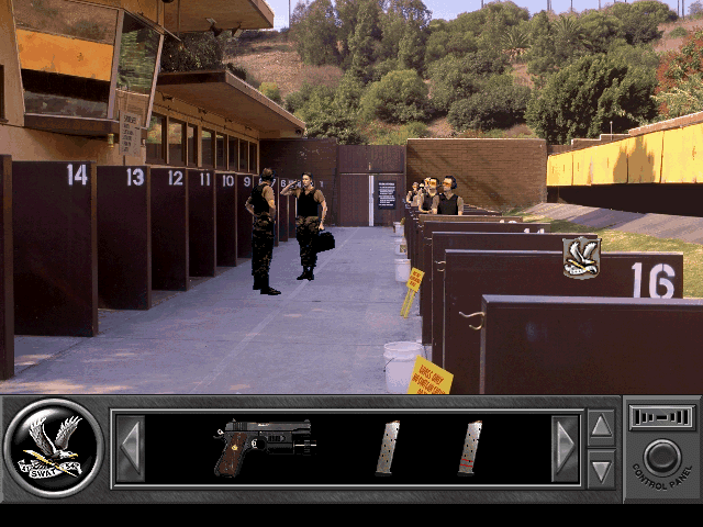 Daryl F. Gates' Police Quest: SWAT DOS Training small arms range.