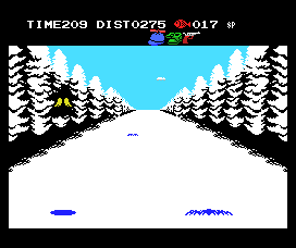 Penguin Adventure MSX Look at the left of the screen - the penguin is flying into...