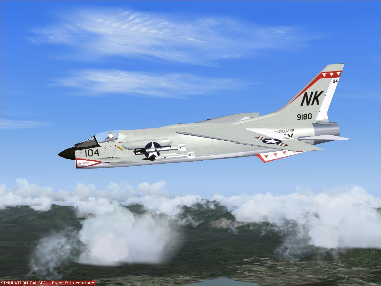 F 8 Crusader Takes Off Aircraft Carrier