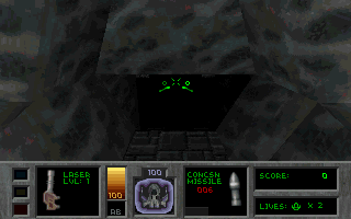Descent II: The Infinite Abyss DOS Starting location