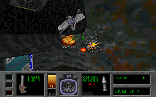 Descent II: The Infinite Abyss DOS And... into the fight!