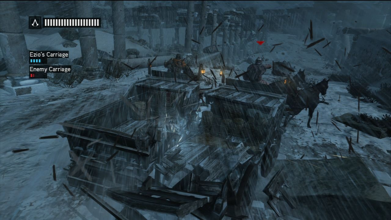 Assassin's Creed: Revelations PlayStation 3 A fierce chariot chase.