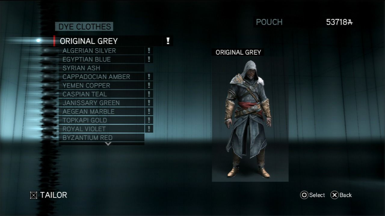 Assassin's Creed: Revelations PlayStation 3 You can dye clothes at the store, although it bears no strategic meaning.