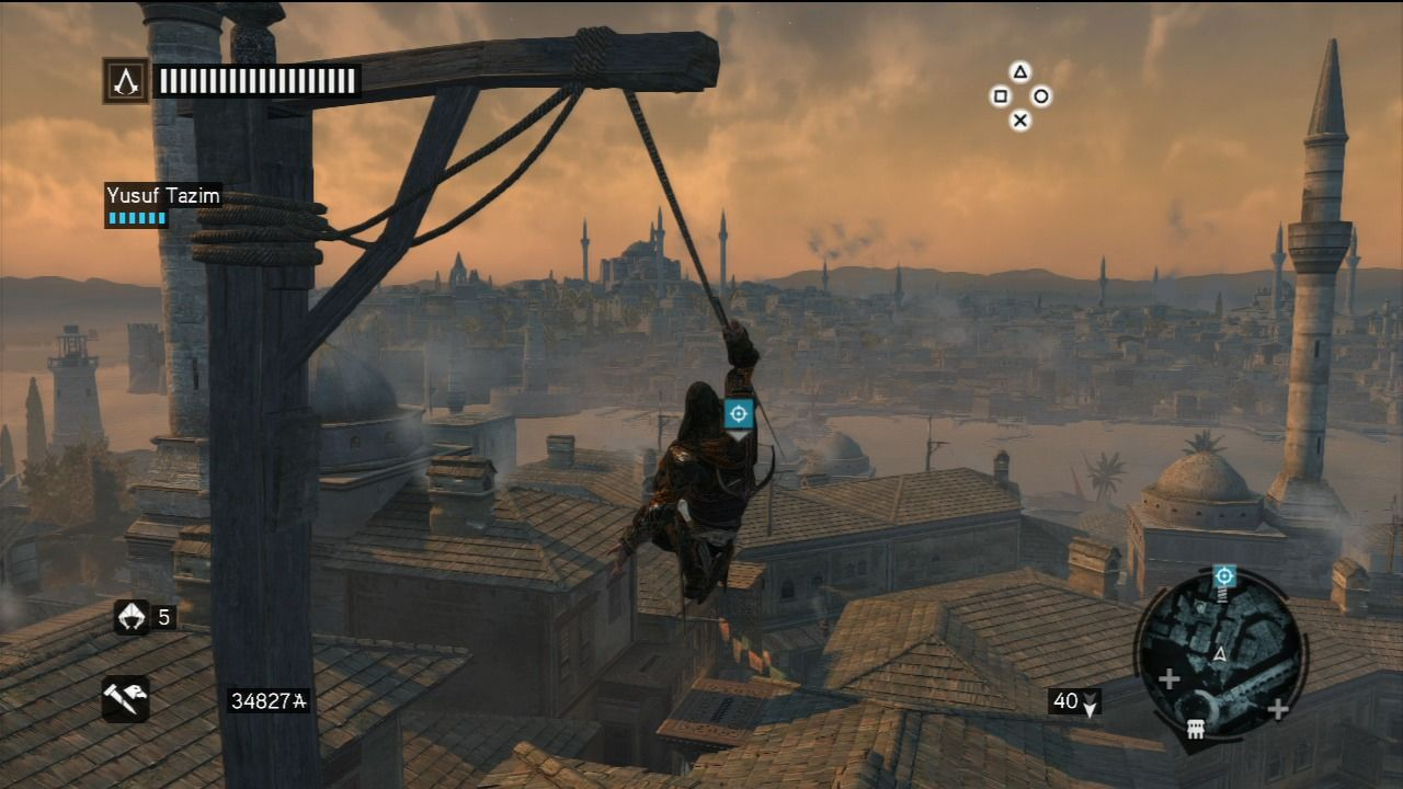 Assassin's Creed: Revelations PlayStation 3 Testing the new hook blade.