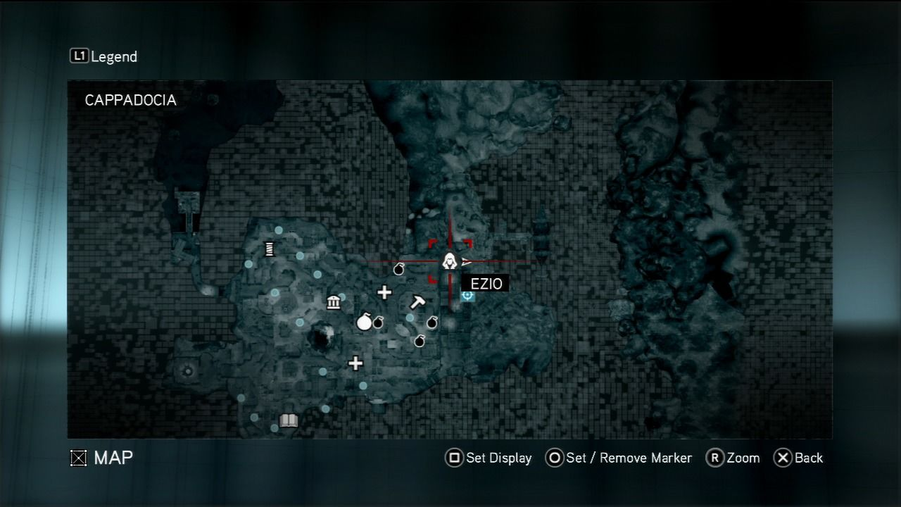 Assassin's Creed: Revelations PlayStation 3 Area map.