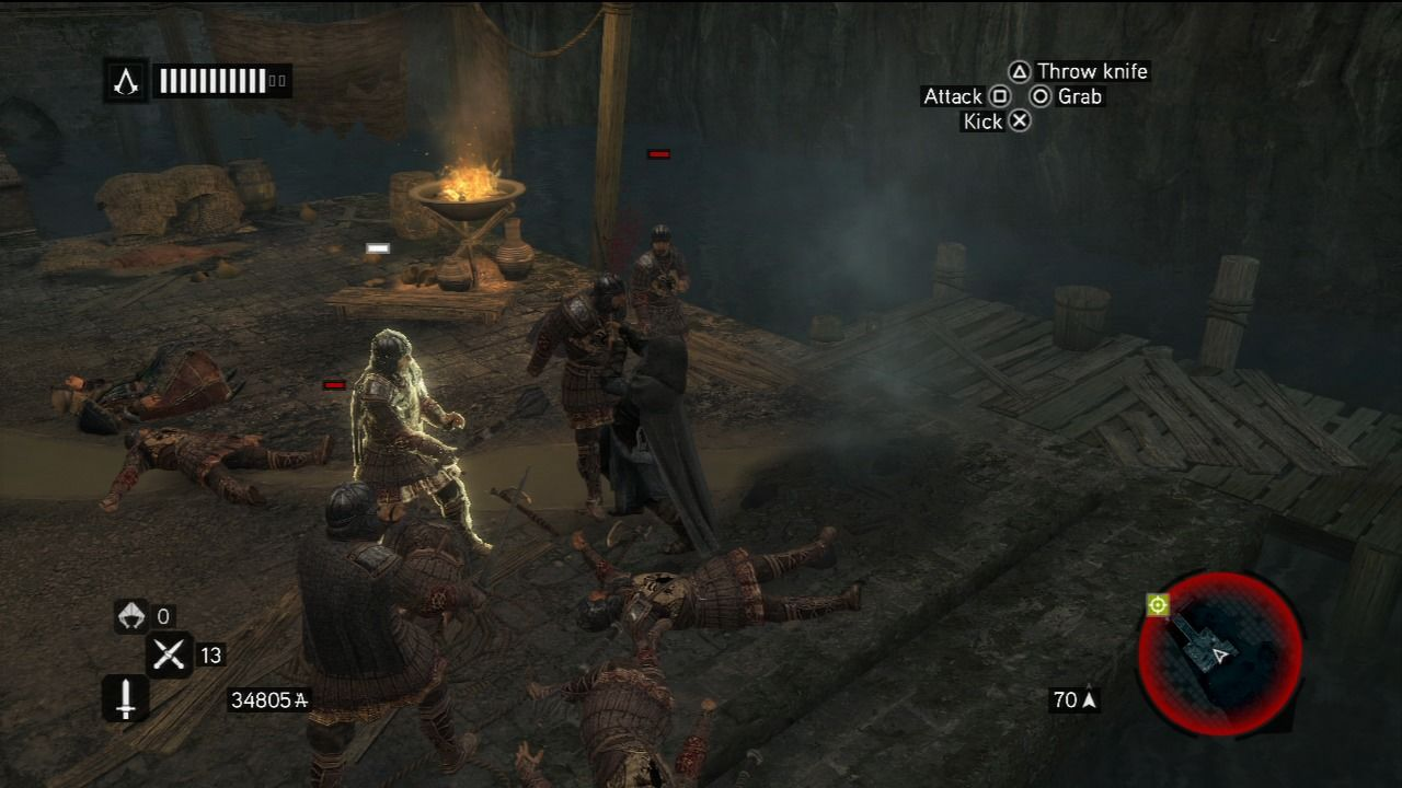 Assassin's Creed: Revelations PlayStation 3 There are some rather brutal moves Ezio has learned over time.