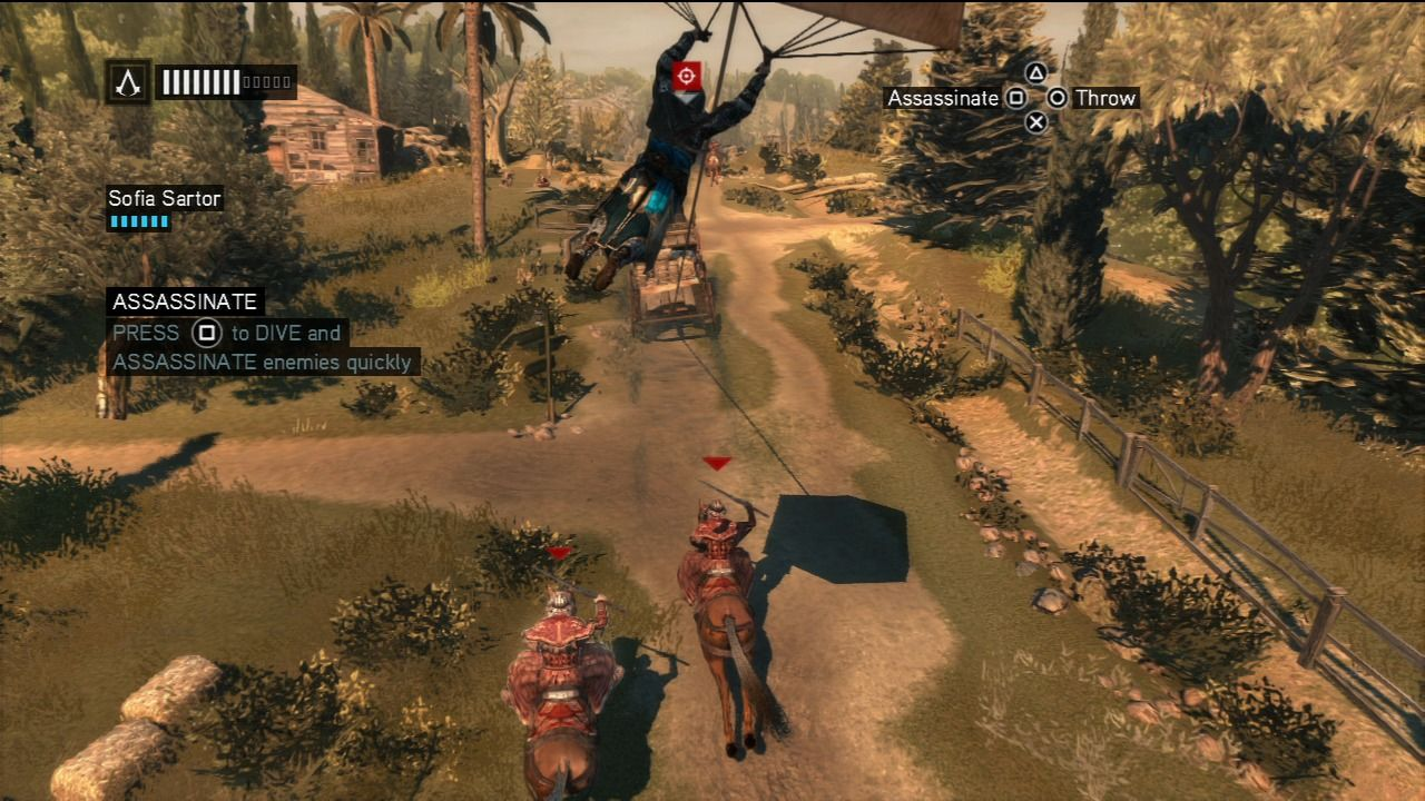 Assassin's Creed: Revelations PlayStation 3 Using Leonardo's parachute to follow the chariot and take out the pursuit.
