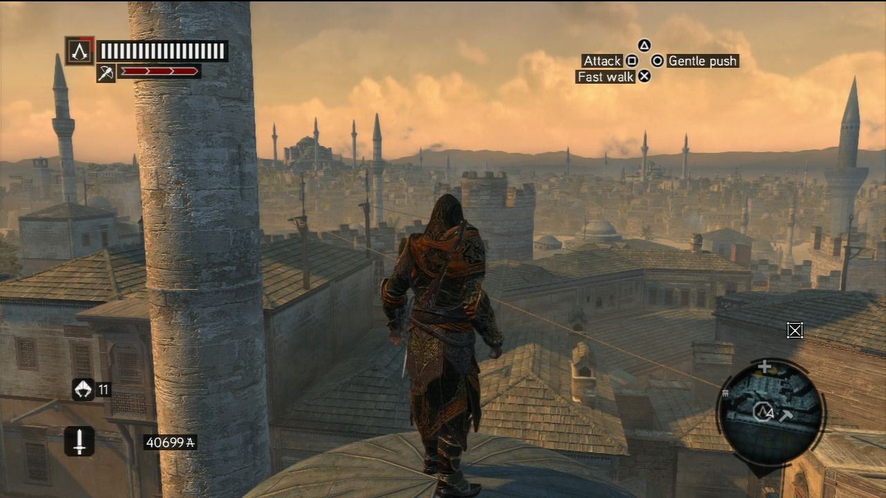Assassin's Creed: Revelations PlayStation 3 Constantinople is a city with a lot of towers and a lot of places to climb on.