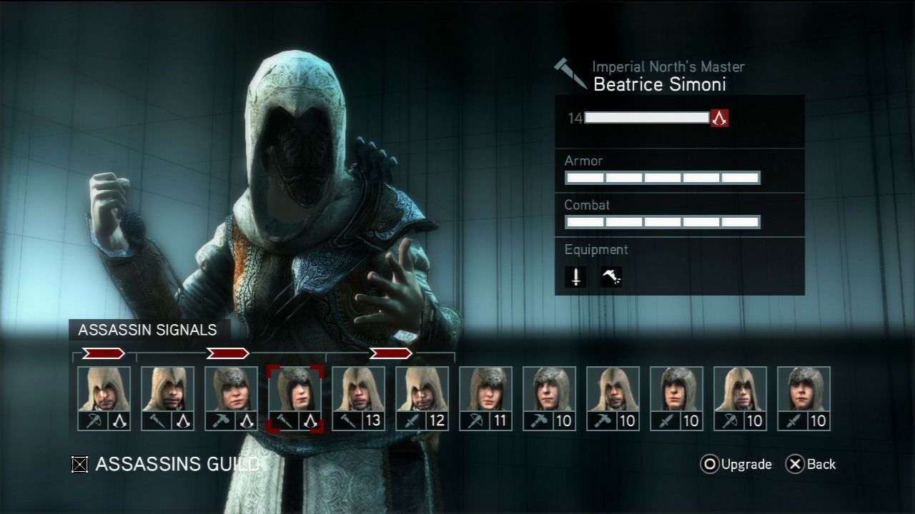 Assassin's Creed: Revelations PlayStation 3 Gather your assassins and send them onto various tasks to raise their fighting skills.