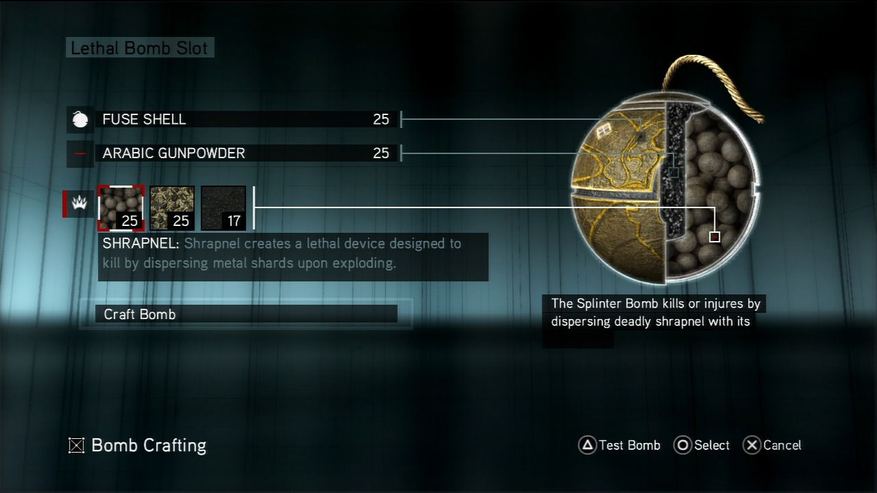 Assassin's Creed: Revelations PlayStation 3 Crafting bombs is a new element to the franchise.