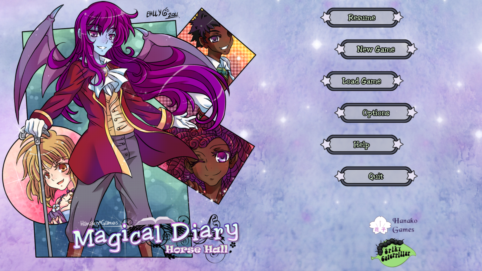 Magical Diary: Horse Hall Linux Title screen