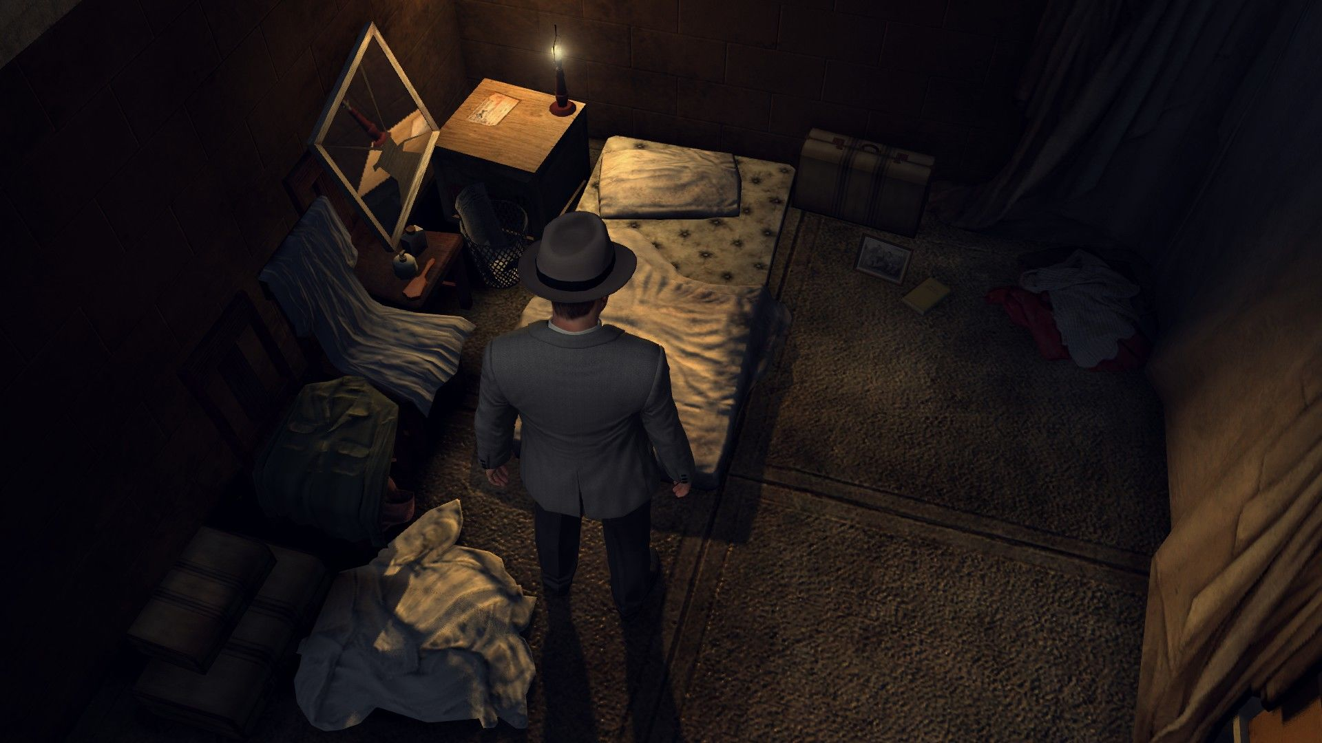 L.A. Noire: The Complete Edition Windows Searching for a clues in a victim's place.