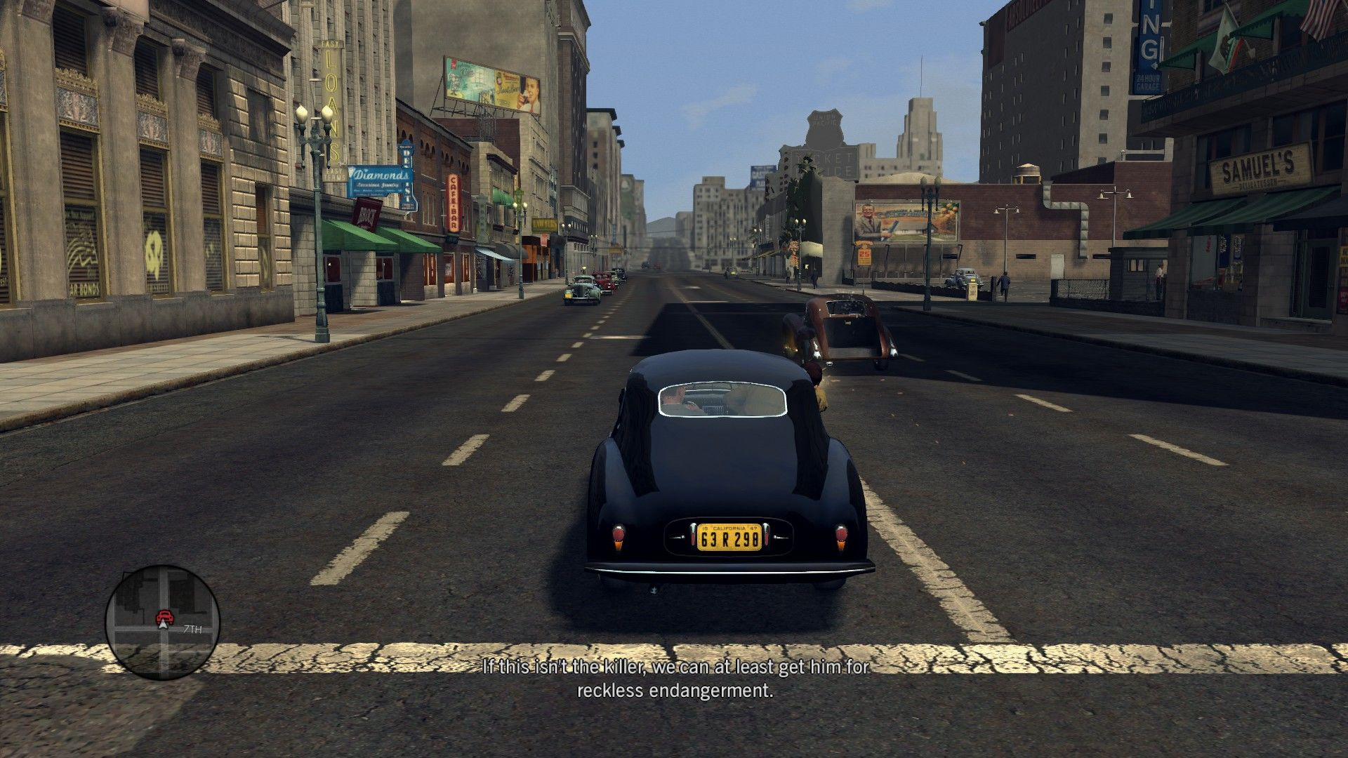 L.A. Noire: The Complete Edition Windows The travels by car are essential parts of the game to hear the conversations with your partner, but it's possible to skip them.