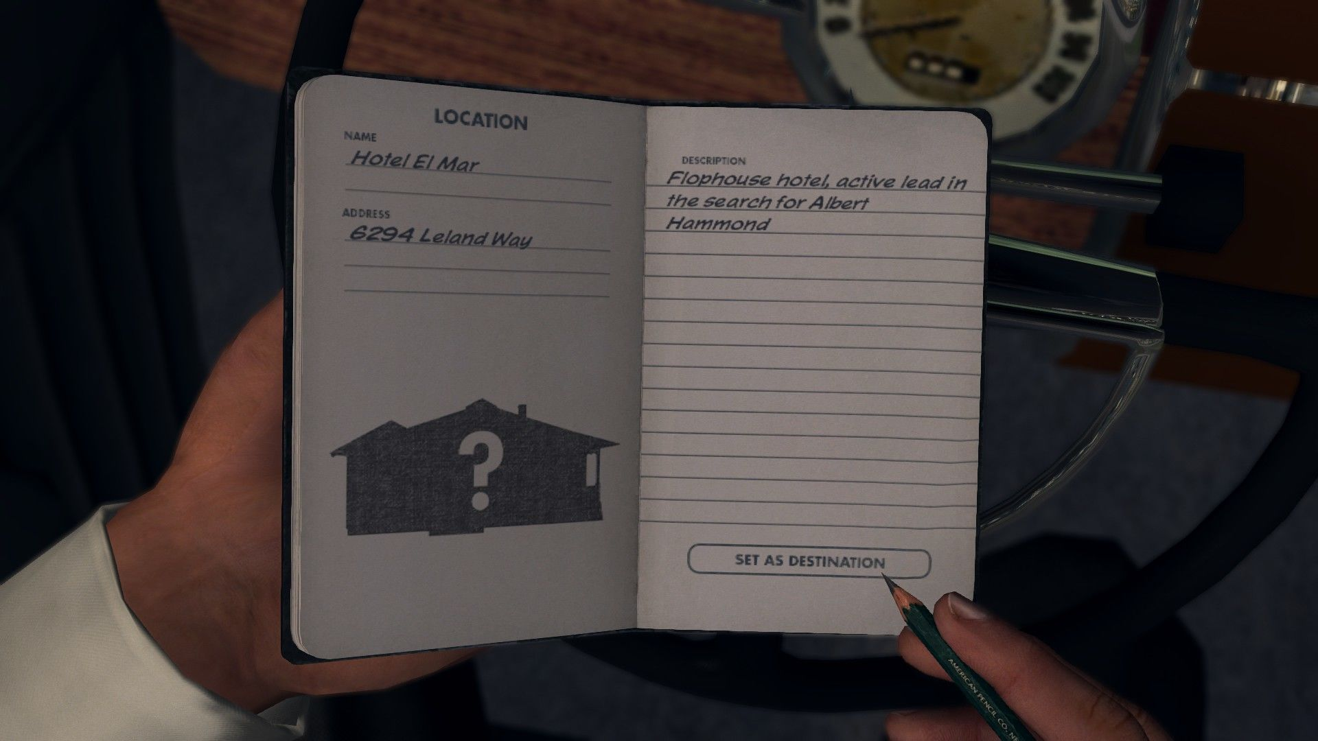 L.A. Noire: The Complete Edition Windows The case-related locations are listed in your notebook.