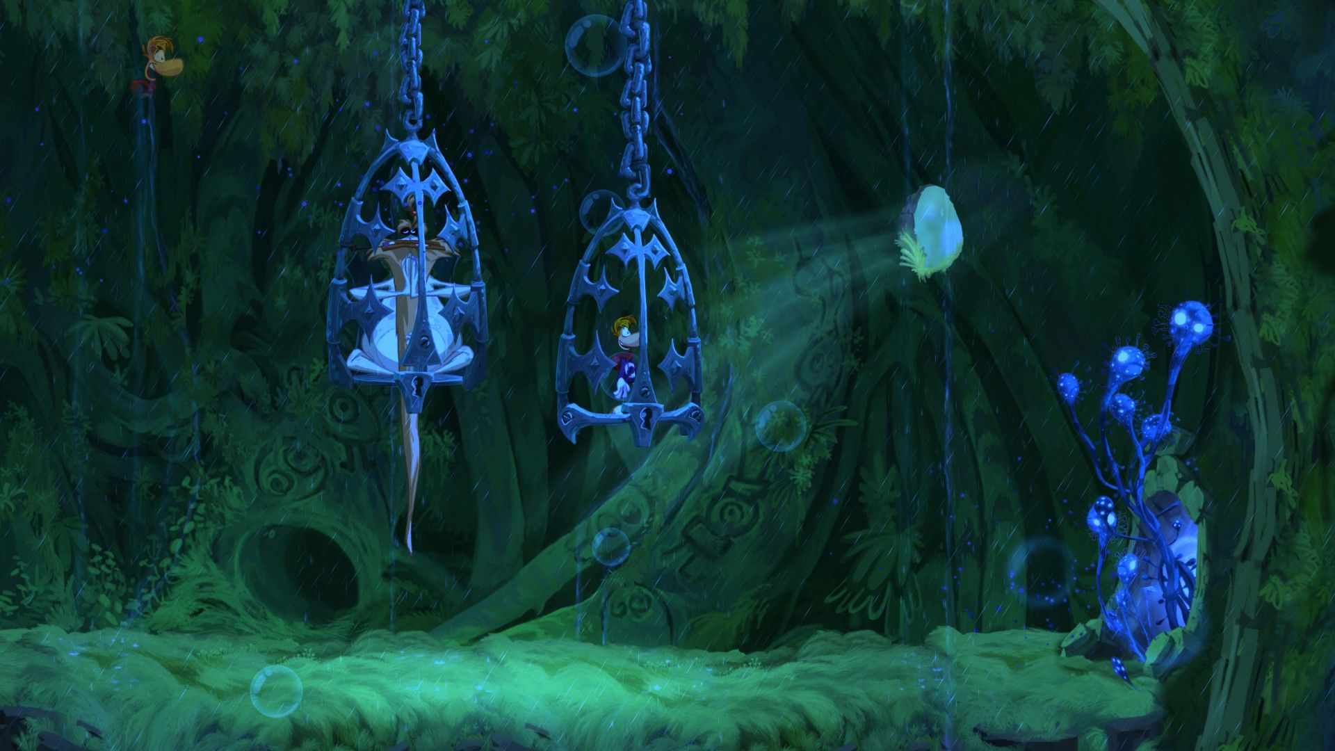 Rayman Origins Windows The game starts in a cage