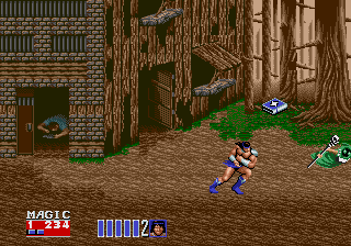 Golden Axe II Genesis enemy can fly? No.