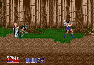Golden Axe II Genesis good throw, out of the screen.