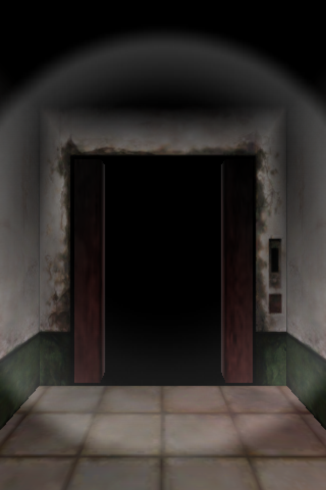 Silent Hill: The Escape iPhone The exit elevator is opening its doors for the player.