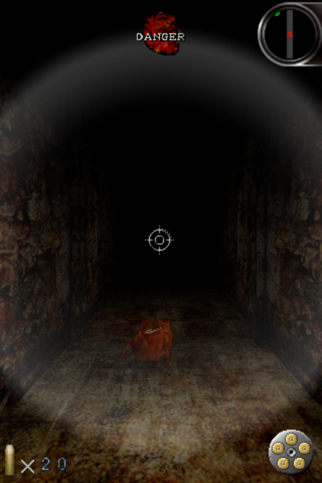 Silent Hill: The Escape iPhone A froglike enemy.