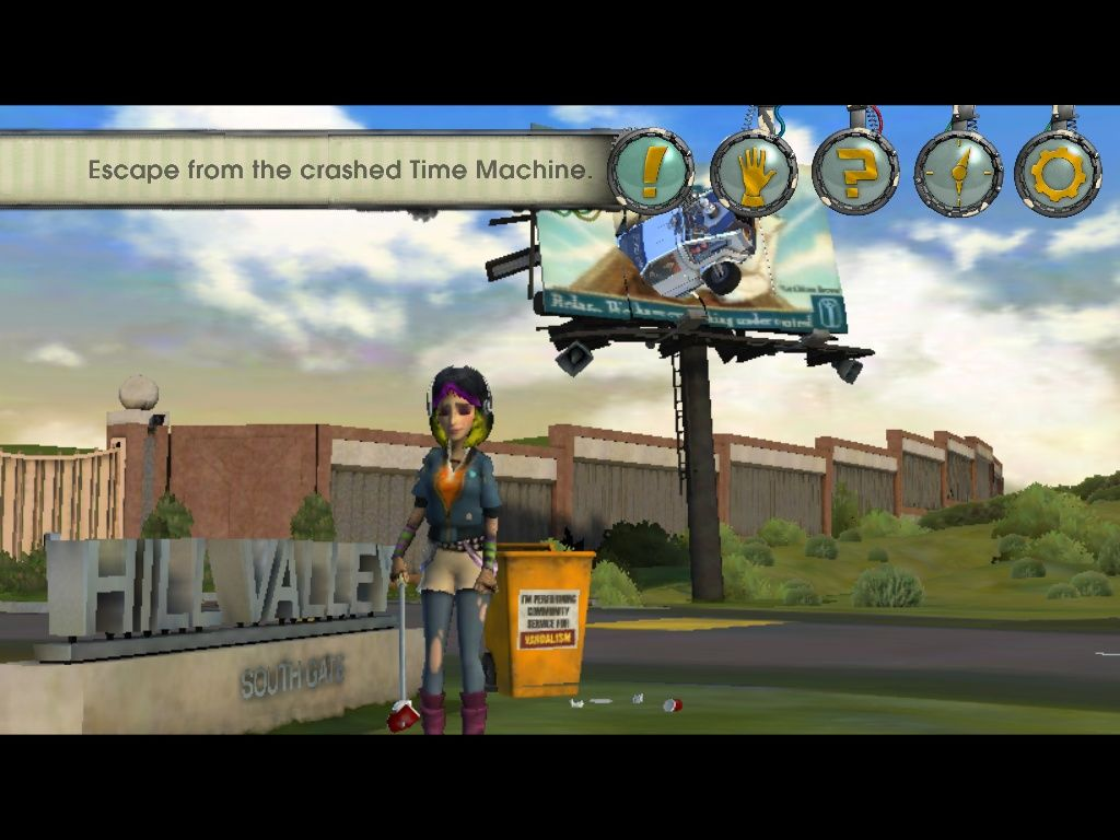Back to the Future: The Game - Episode 3: Citizen Brown iPad Game start