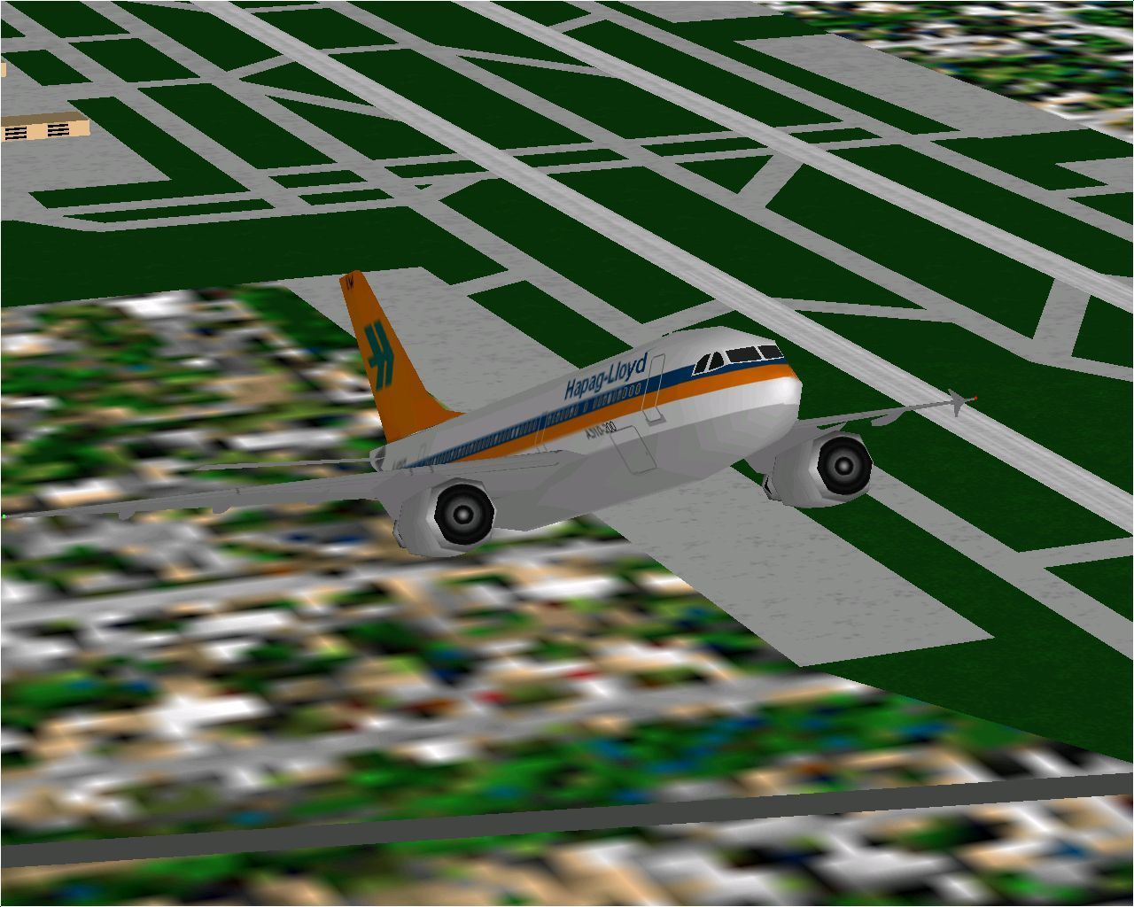 Airbus 2000: Special Edition Windows The Airbus A310-204 in Hapag-Lloyd livery as flown in Microsoft Flight Simulator 98