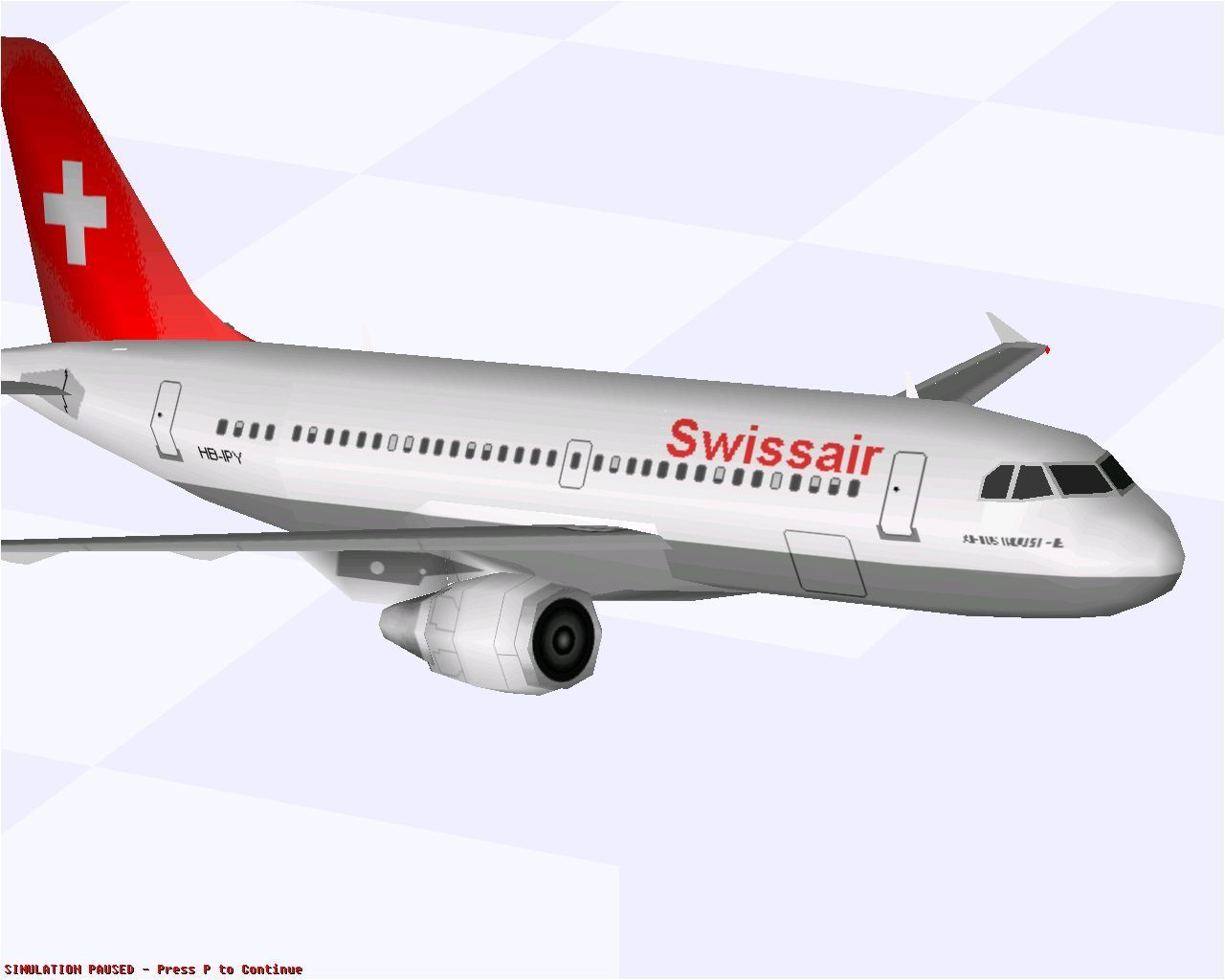 Airbus 2000: Special Edition Windows An Airbus A319-111 flying in Swissair livery in Microsoft Flight Simulator 98