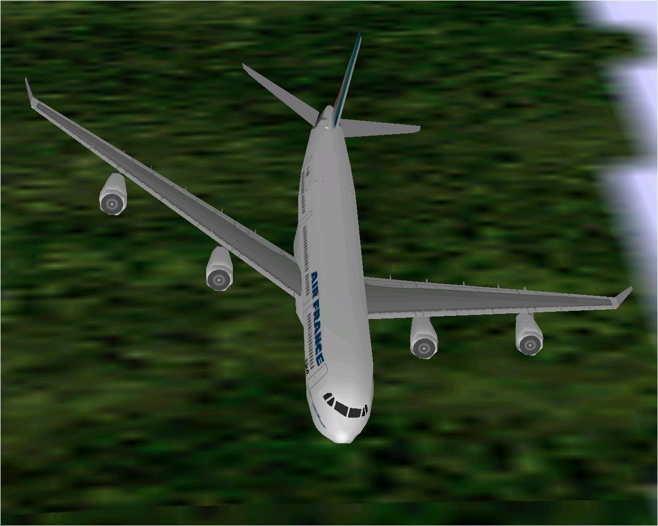 Airbus 2000: Special Edition Windows Air France's Airbus A340-311 in Microsoft Flight Simulator 98.