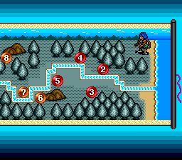 "Color Wars TurboGrafx CD ""World map"" in the story mode"