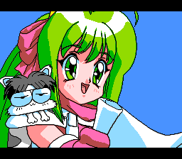 Princess Quest: Mahjong Sword TurboGrafx CD Princess Tika delivers a speech