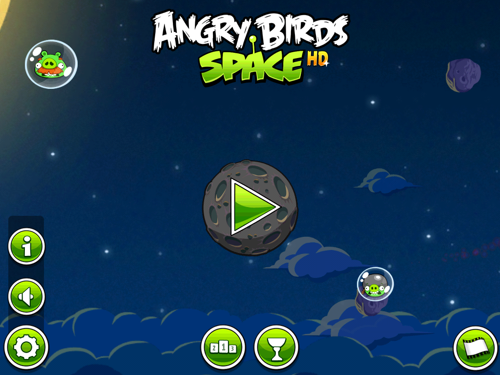 Angry Birds: Space iPad Title Screen