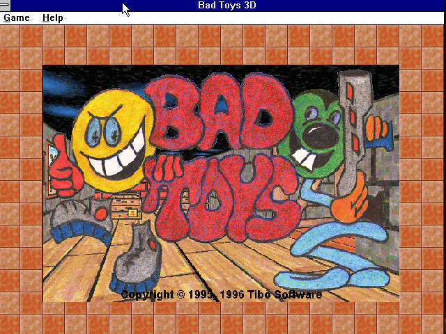 Bad Toys Windows 3.x Start screen (Version 1.91).