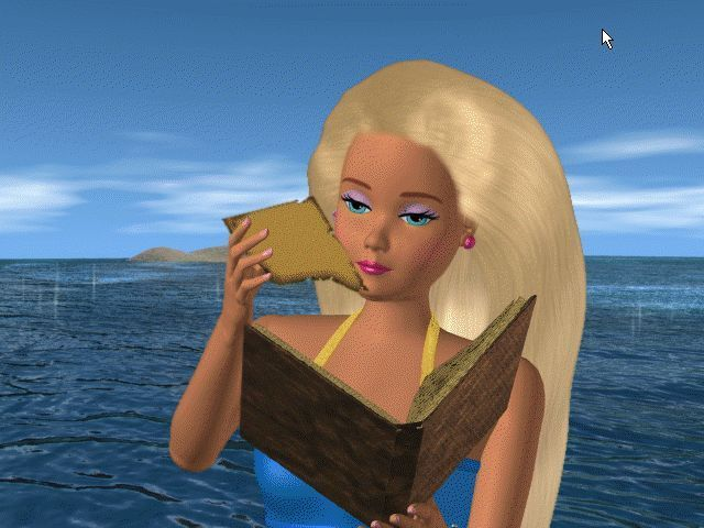 Barbie: Ocean Discovery Windows There's a piece of a map hidden in the book. Barbie decides to go and look for the treasure and to use it to help fund the Marine Life League and save the oceans