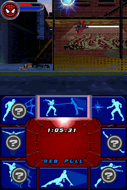 Spider-Man 2 Nintendo DS No day in the life of Spiderman is complete without a crawl across a ceiling or two.