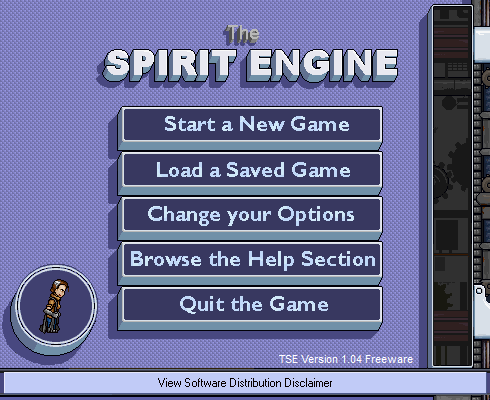 The Spirit Engine Windows Main menu