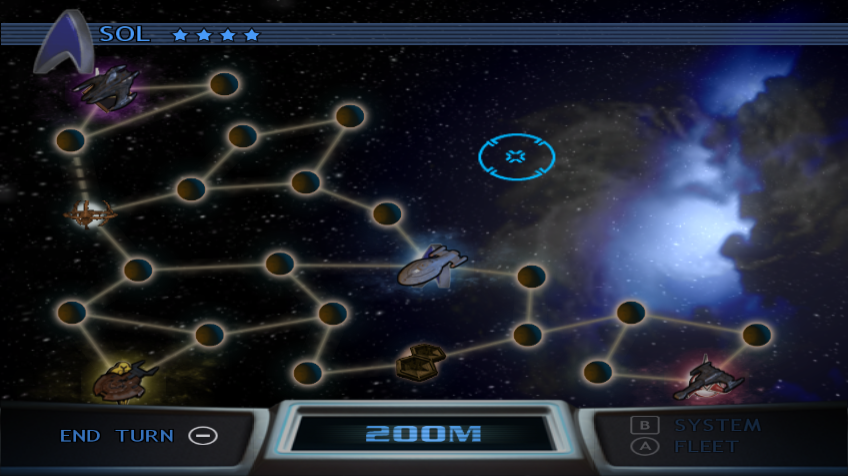 Star Trek: Conquest Wii Moving across the map