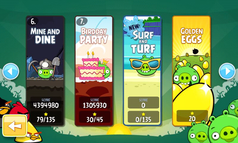 Angry Birds Android Update 2.1.0 brings a new episode - Surf and Turf