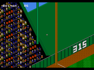 RBI Baseball '95 SEGA 32X Green monster in stadium tour