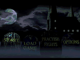 Mary Shelley's Frankenstein / Bram Stoker's Dracula SEGA CD Frankenstein Menu
