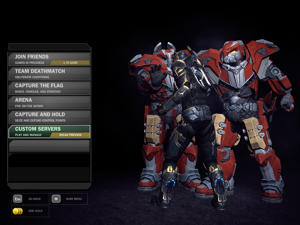 Tribes: Ascend Windows Multiplayer modes.