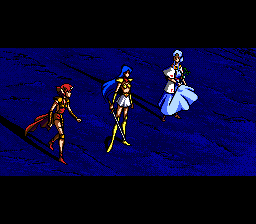 Valis III TurboGrafx CD The three girls in a dramatic cutscene