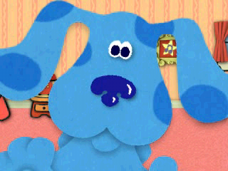 Blue's Clues: Blue's Big Musical PlayStation Blue up close & personal.